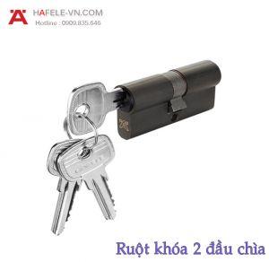 Ruột Khóa 2 Đầu Chìa 61mm Hafele 916.63.900