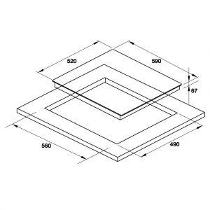 Bếp Điện 3 Vùng Nấu HC-R603D Hafele 536.01.901