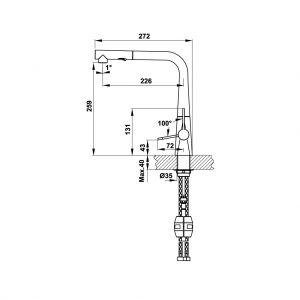 Vòi Rửa Chén HT20-CH1P259 Hafele 570.82.210