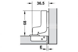 Bản Lề Lọt Lòng Metalla SM DIY 110º Hafele 493.03.023