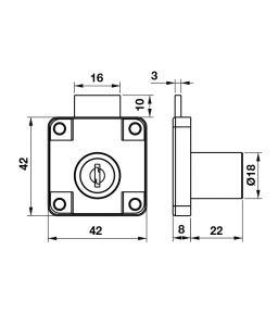 Bộ Khóa Tủ DIY Hafele 482.01.110