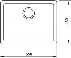 Chậu Rửa Đá HS19-GEN1S60 Hafele 570.35.430