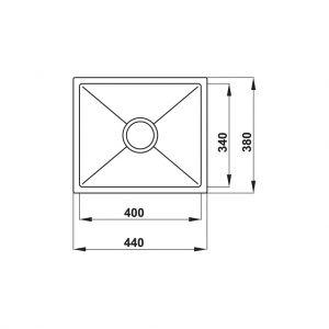 Chậu Rửa Chén HS20-SSN1S50 Hafele 567.20.227