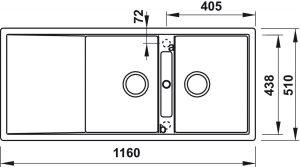Chậu Rửa Chén Đá HS20-GKD2S80 Hafele 570.33.330