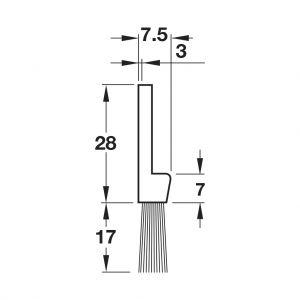 Thanh Chắn Bụi Dạng Chổi 800mm Hafele 489.97.110