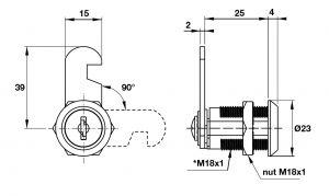 Khóa Cam DIY 18 x 25mm Hafele 482.01.111
