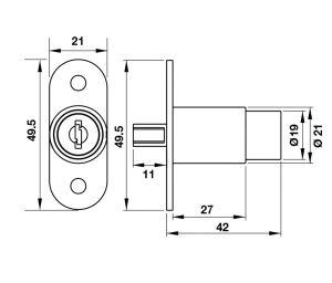 Khóa Push DIY Hafele 482.01.112