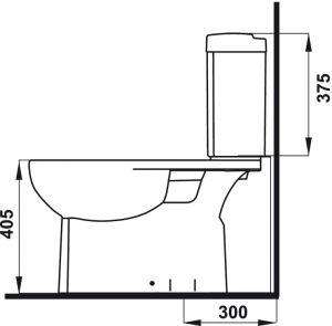 Bồn Cầu 2 Khối Compact Hafele 588.79.405