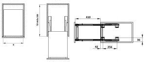 Bộ Đựng Dao Thớt Chai Lọ Sonata 400mm Cucina 549.20.215