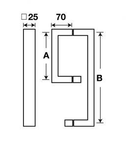 Tay Nắm Phòng Tắm Kính C/C 200 x 450mm Hafele 903.02.250