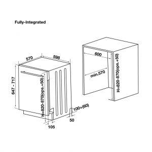 Máy Rửa Chén Âm Tủ HDW-FI60D Hafele 533.23.320