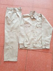 Quần áo đồng phục vải kaki nam định màu ghi sáng