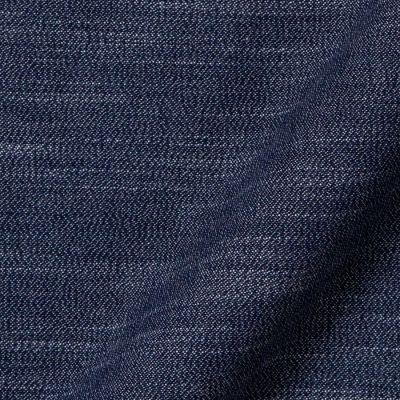 Vải May Áo Sơ Mi Nam Linen Melange Màu Denim