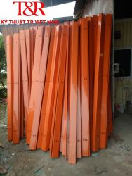 Máng cáp có nắp 100x75 sơn tĩnh điện màu cam