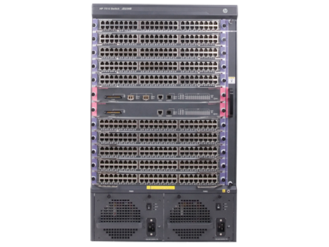 HP 7510 Switch with 2 48-port Gig-T PoE+ Modules and 76