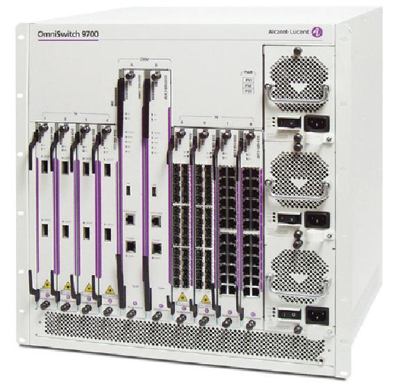 Alcatel-Lucent OmniSwitch 9700E Chassis LAN Switch OS9700E-CMM