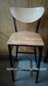 Ghế bar chân sắt mặt gỗ GB9