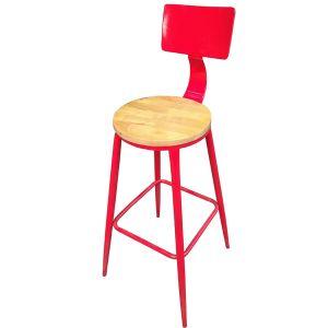 Ghế bar khung sắt mặt gỗ GB11