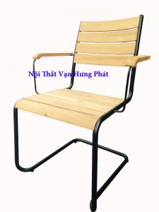 Ghế gỗ keo chân sắt GS5