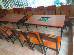 Thi công bàn ghế quán lẩu, nướng 104 D7 Trung Tự, Đống Đa, HN