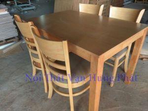 Bộ bàn ghế Cabin gỗ cao su BGG3