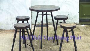 Bộ bàn ghế cafe phong cách Vintage BGCF16