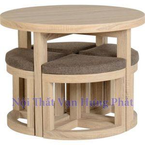 Bộ bàn ghế gỗ sồi BGG1