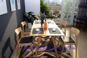Bộ bàn ghế phòng ăn gia đình, bàn ghế nhà hàng