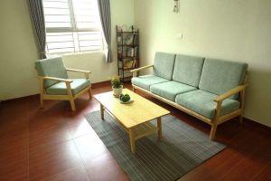 Bộ bàn ghế sofa khung gỗ sồi SF5