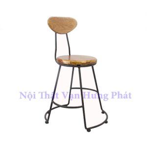 Ghế bar khung sắt mặt gỗ đẹp giá rẻ GB10