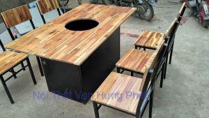 Bộ bàn ghế cho quán lẩu nướng BGS22