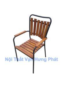 Ghế khung sắt mặt gỗ GCF23
