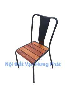 Ghế khung sắt mặt gỗ GCF24