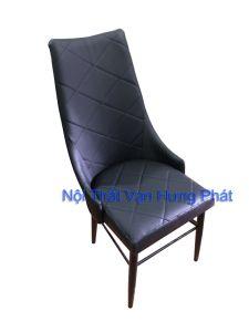 Mẫu ghế khung sắt mặt đệm da cho nhà hàng BGS23