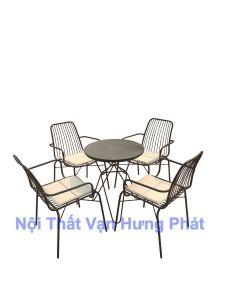 Bộ bàn ghế cafe ngoài trời BGS24