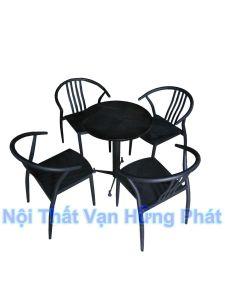Bộ bàn ghế cafe Wishbone sắt