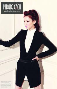 Áo vest công sở nữ kiểu dáng Hàn Quốc 012