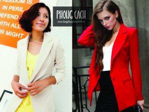 Áo vest công sở nữ kiểu dáng Hàn Quốc 014