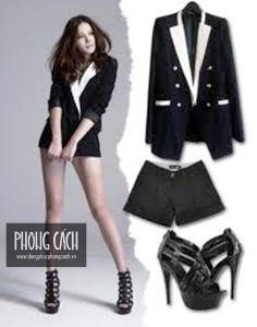 Áo vest công sở nữ kiểu dáng Hàn Quốc 018