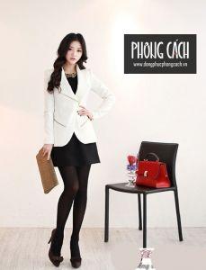 Áo vest công sở nữ kiểu dáng Hàn Quốc 020