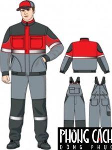 Mẫu đồng phục bảo hộ lao động 017