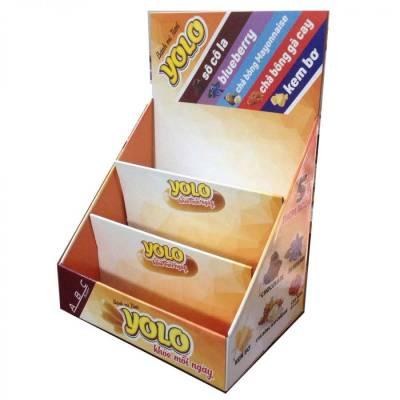 Kệ giấy trưng bày sản phẩm bánh kẹo