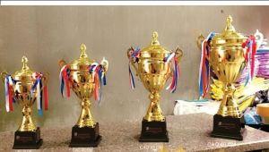 Cup bóng đá mạ vàng