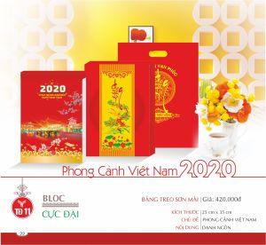 Lịch Block Cực Đại bảng treo Sơn Mài