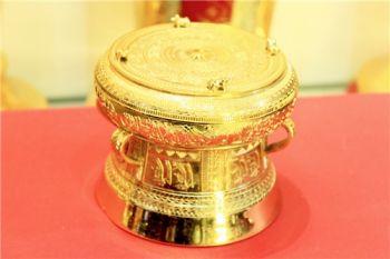 Trống Đồng mạ vàng 24k