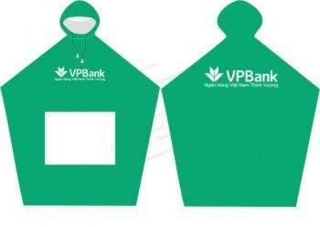 Áo mưa cánh dơi quà tặng ngân hàng VPbank