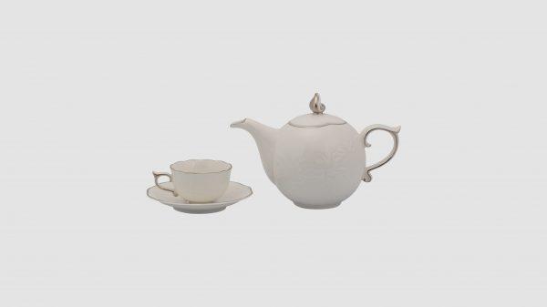 Bộ trà Minh Long  Sen-IFP-Chỉ-Bạch-Kim
