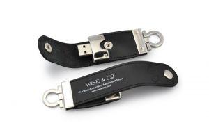 USB vỏ da in logo làm quà tặng