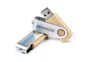 USB vỏ gỗ in logoquảng cáo.