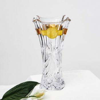 Bình hoa pha lê mạ vàng